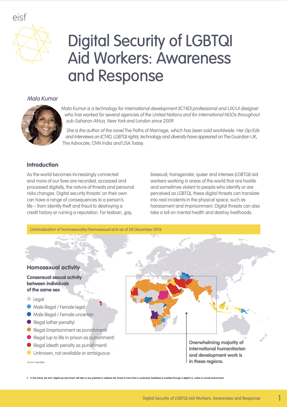 Digital Security of LGBTQI Aid Workers: Awareness and Response