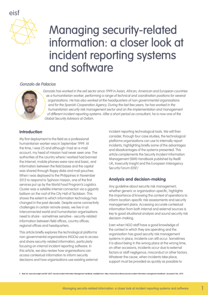 Image for Managing security-related information: a closer look at incident reporting systems and software