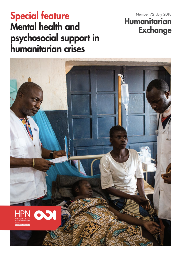 Image for Humanitarian Exchange Special Issue: Mental health and psychosocial support in humanitarian crises