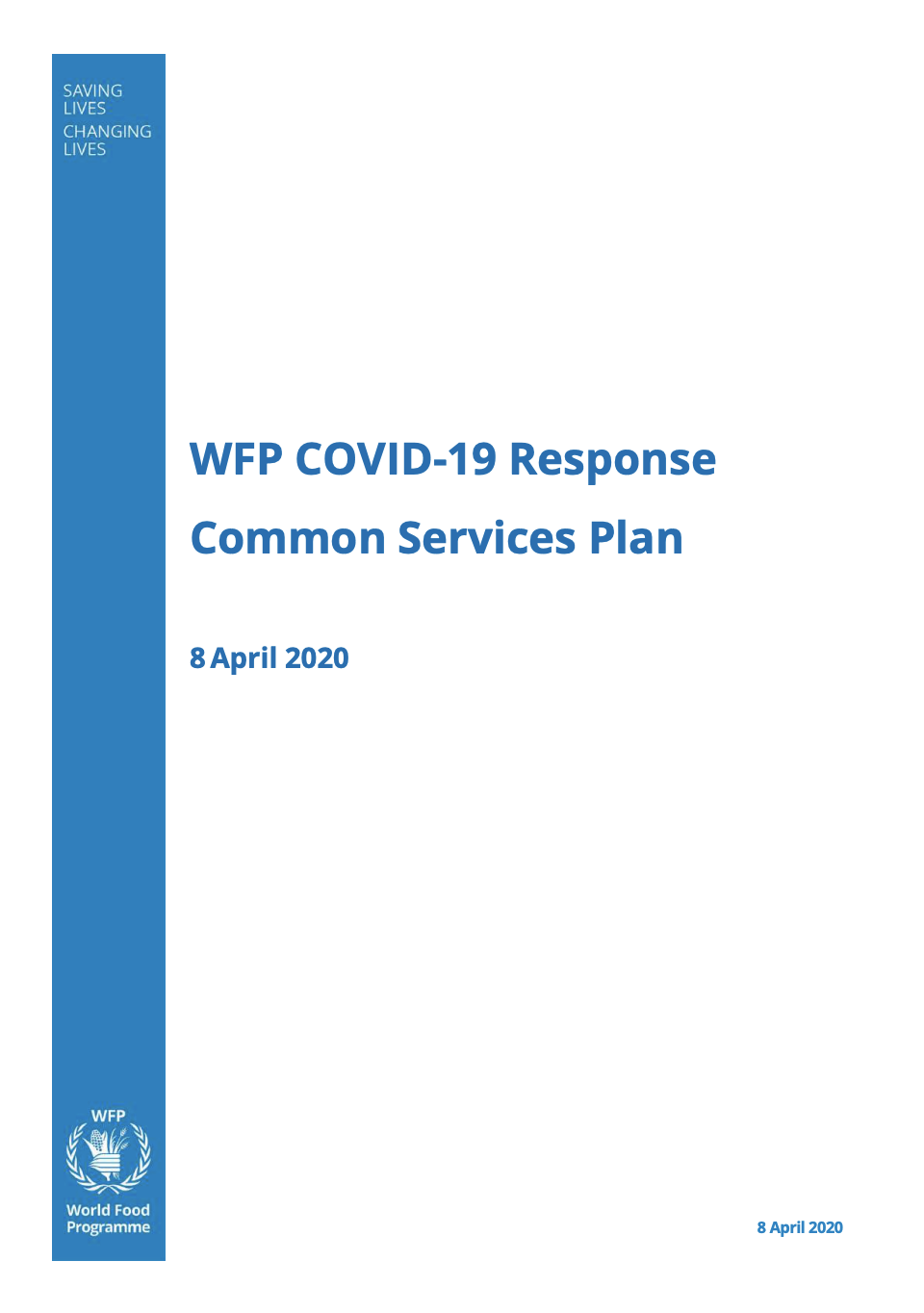 WFP COVID-19 Common Services Plan