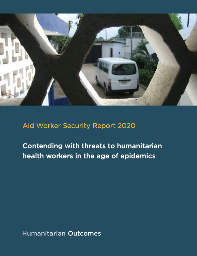 Image for Aid Worker Security Report 2020: Contending with threats to humanitarian health workers in the age of epidemics