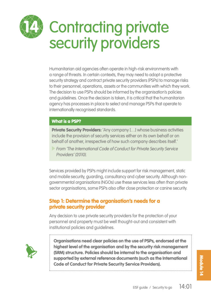 Image for Contracting Private Security Providers