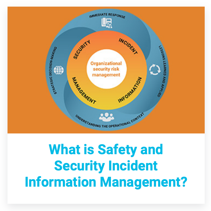 Image for Safety and Security Incident Information Management (SIIM) for Organisations