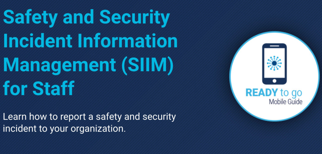 Image for Safety and Security Incident Information Management (SIIM) for Staff