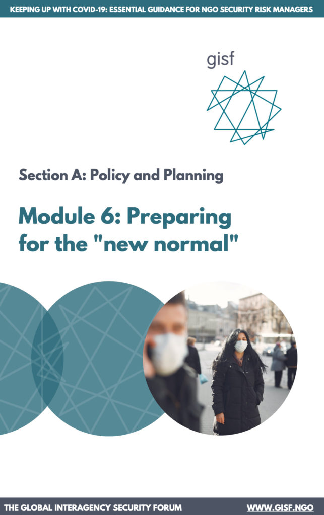 Image for Keeping up with COVID-19: essential guidance for NGO security risk managers – Module A6: Preparing for the new normal
