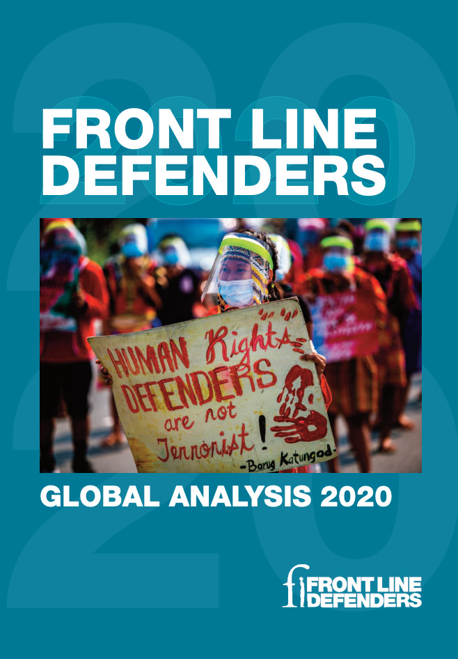Image for Front Line Defenders: Global Analysis 2020