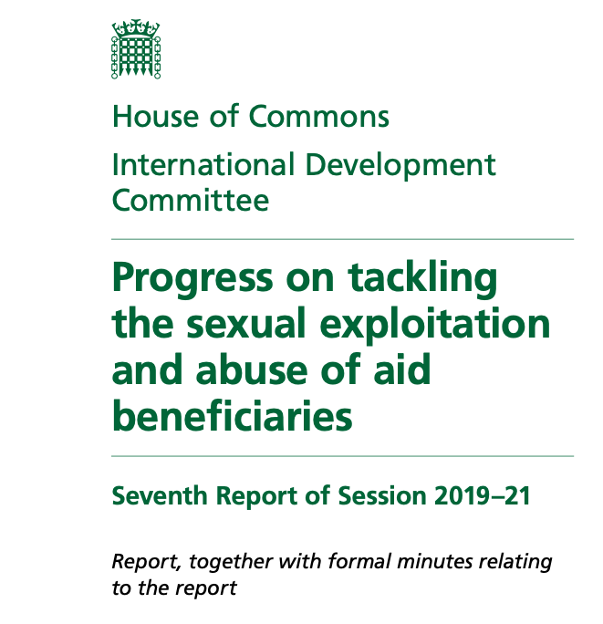 Sexual Exploitation and Abuse in the Aid Sector: Progress and Next Steps