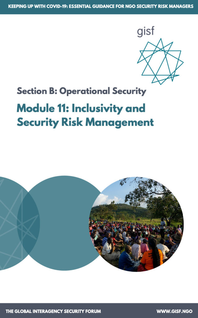 Image for Keeping up with COVID-19: essential guidance for NGO security risk managers – Module B11: Inclusivity and Security Risk Management